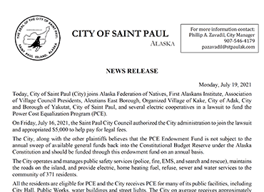 CSP Joins Lawsuit to Fund PCE