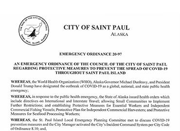 Emergency Ordinance 20-97